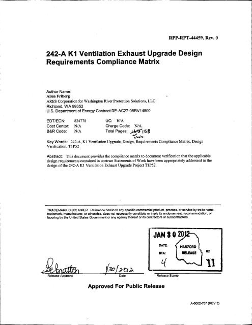 Sample 3 compliance matrix on