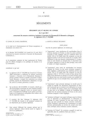 401/2013 - EUR-Lex - Europa