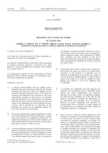 Règlement - EUR-Lex - Europa