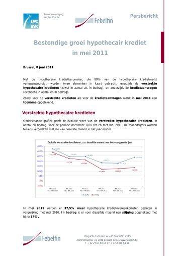 Kredietbarometer hypothecair krediet : mei 2011 - Febelfin