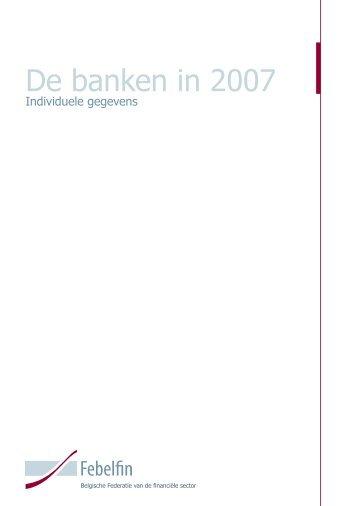 De banken in 2007 - Febelfin