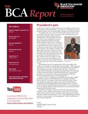 Bcareport - Alumni at Illinois State University