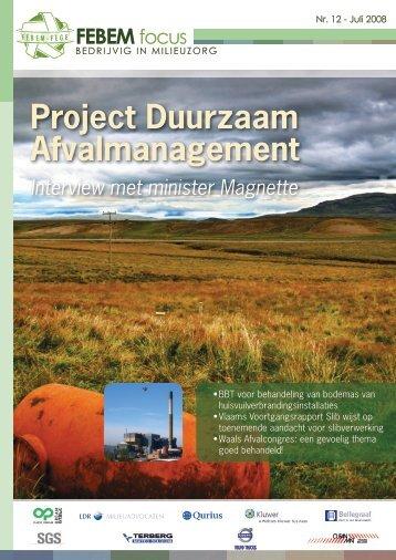 Bekijk de PDF - FEBEM - Federatie van Bedrijven voor Milieubeheer
