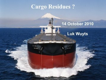 Cargo Residues ?