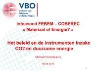 VBO: het beleid en de instrumenten inzake CO2 en duurzame energie