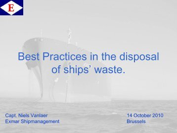 Best Practices: A Shipowner's point of view.