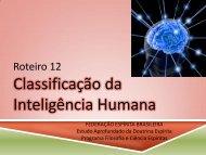 Roteiro 12 Classificação da Inteligência Humana - Federação ...