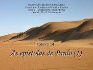 As epístolas de Paulo (1) - Federação Espírita Brasileira