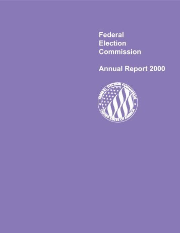 Federal Election Commission Annual Report 2000