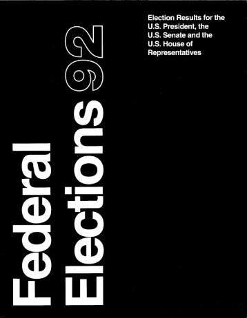 Federal Elections 1992 - Federal Election Commission