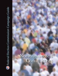 Nonconnected Committees - Federal Election Commission