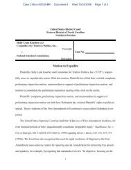 Motion to Expedite - Federal Election Commission