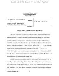 Consent Motion to Stay Proceedings On the Merits - Federal ...