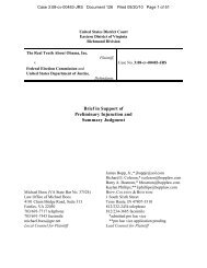 Brief in Support of Preliminary Injunction and Summary Judgment