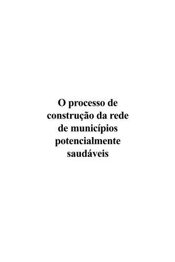 O processo de construção da rede de municípios ... - FEC - Unicamp