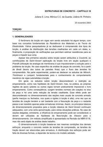 ESTRUTURAS DE CONCRETO – CAPÍTULO 18 Juliana S ... - FEC