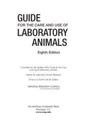 Guide for the Care and Use of Laboratory Animals, 8th edition ...