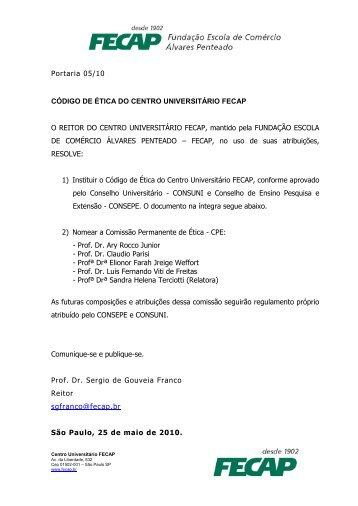 Código de Ética da FECAP.