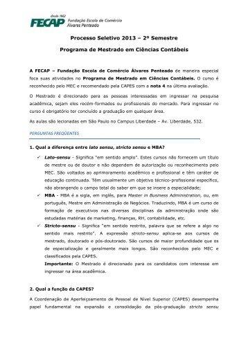 Manual do Candidato 2013-2 - Fecap
