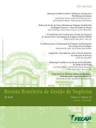 Revista Brasileira de Gestão de Negócios - Fecap