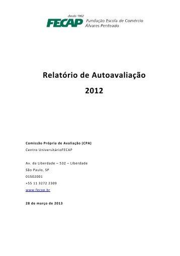 Relatório de Auto Avaliação 2012 - Fecap