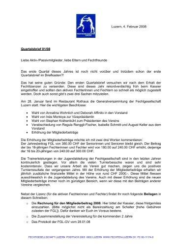 Februar 2008 (PDF) - Fechtgesellschaft Luzern