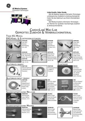 CARDIOLAB/MAC-LAB geprüftes Zubehör & Verbrauchsmaterial