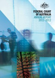 Federal Court oF australia annual report 2011–2012