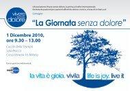 """""""La Giornata senza dolore"""" - Federazione Cure Palliative"""