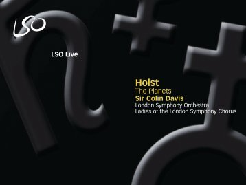 LSO Live Holst - London Symphony Orchestra