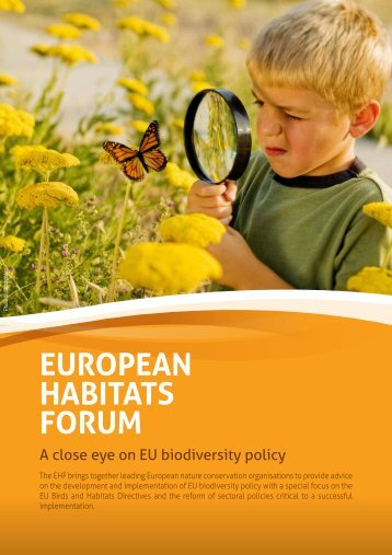 EuropEan Habitats Forum - IUCN