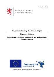 Programme Interreg IVA Grande Région Dépenses éligibles ... - Feder