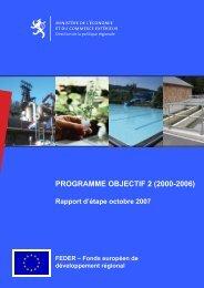 Le rapport d'étape du programme communautaire FEDER Objectif 2 ...