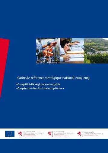 Cadre de référence stratégique national 2007-2013 - Feder