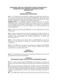 Regulamento Geral - Federação Paranaense de Futebol