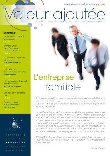 Lettre d'information de FÉDÉRACTIVE n°4 - 2011