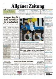 Fußball-EM 2012 - Allgäuer Zeitung als iPaper - All-in.de