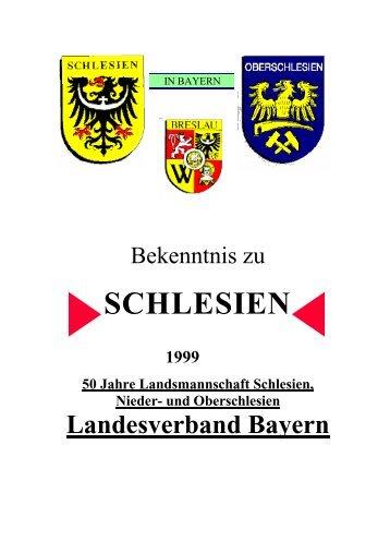 SCHLESIEN - Landsmannschaft Schlesien Bayern, Nieder