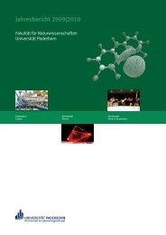 Jahresbericht 2009|2010 - Fakultät für Naturwissenschaften ...