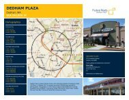 Dedham Plaza Lease Flyer