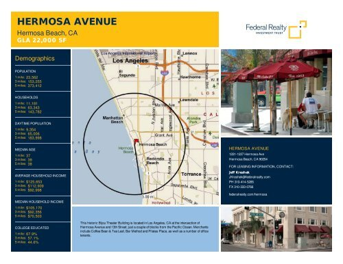 Hermosa Avenue Lease Flyer