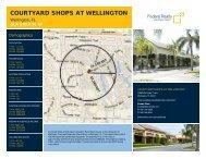 Courtyard Shops at Wellington Lease Flyer