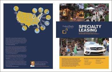 View Specialty Leasing Brochure