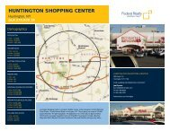 Huntington Shopping Center Lease Flyer