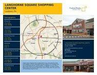 Langhorne Square Shopping Center Lease Flyer