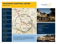 Wildwood Shopping Center Lease Flyer