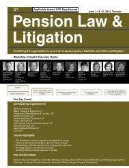 Pension Law & Litigation - Federated Press