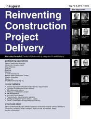 reinventing construction project delivery - Federated Press