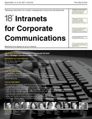 Intranets for Corporate Communications - Federated Press