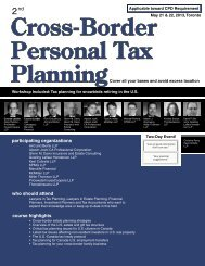 Cross-Border Personal Tax Planning - Federated Press